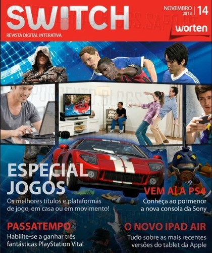 Nova revista | SWITCH | da worten - novembro