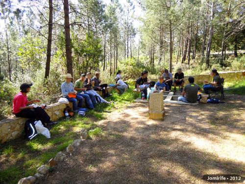 Geocaching FigFoz Team: Grupo a almoçar