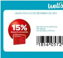 Desconto de 15% wells