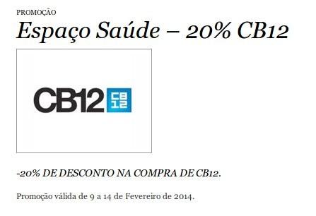 20% de desconto | EL CORTE INGLÉS | CB12 até 14 fevereiro