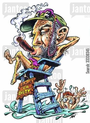 caricatures-fidel_castro-cuba-lifeguards-swim-fide