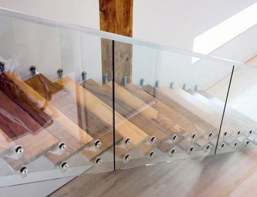 escadas modernas em vidro