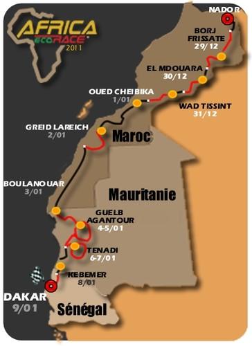 Percurso da Africa Eco Race, edição 2011