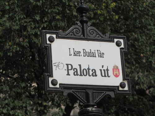 Budapeste - placa no Bairro do Castelo