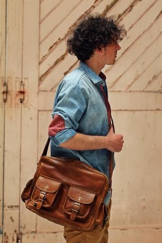 bolsa de ombro para homem