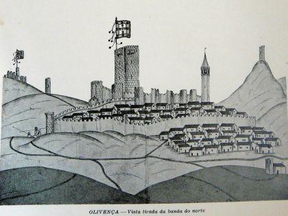 Castelo de Olivença, in «Livro das Fortalezas» de Duarte das Armas