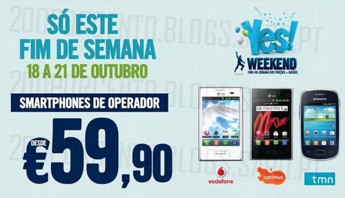 Fim de Semana | PHONE HOUSE |, 18 a 21 Outubro, smartphones desde 59€