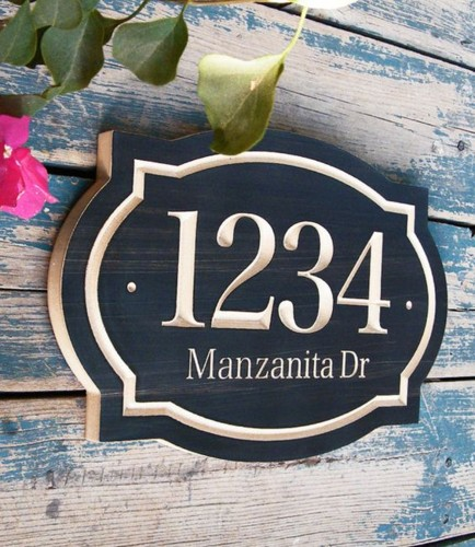 O blog catita for Modern house numbers canada