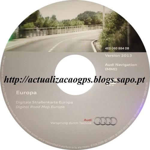 DVD Audi MMI 2G Versão 2013