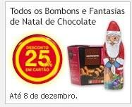 25% de desconto | CONTINENTE | até 8 dezembro, bombons e fantasias de natal - chocolate