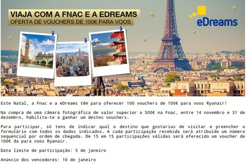 Passatempo | FNAC / EDREAMS |