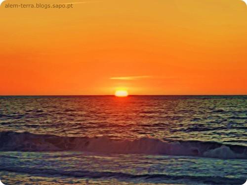 Pôr-do-sol, praia do Furadouro, 8 de Oitembro de 2011 ~ 19:02