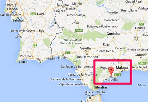 Mapa de Marbella