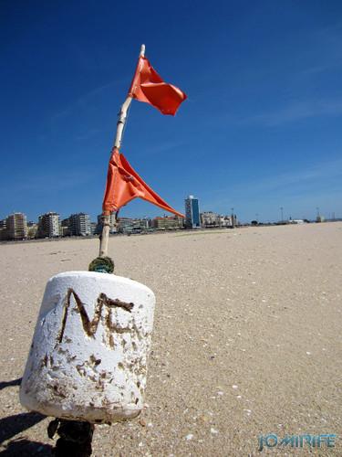 Bóia perdida no areal da praia da Claridade na Figueira da Foz (2)