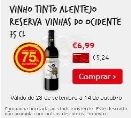 Vinhos com 75%