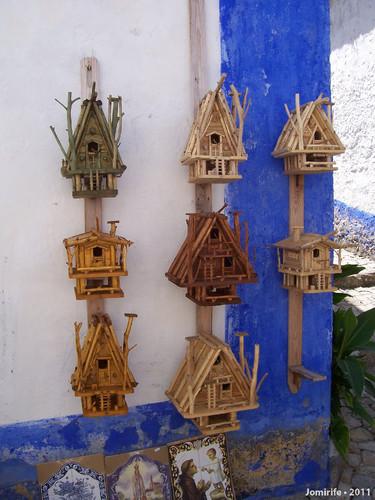 Casas para pássaros com muito detalhe (Óbidos)