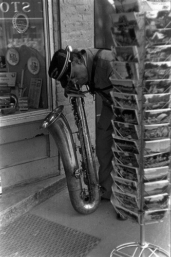 Louis Stettner Parade Musican, Saratoga Springs, N