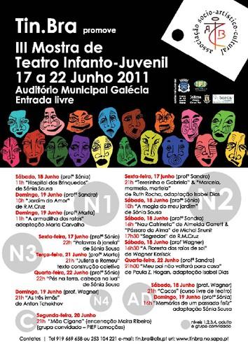 calendário mostra de teatro