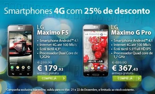 25% de desconto | TMN | Smartphones 4G, dias 21 e 22 Dezembro