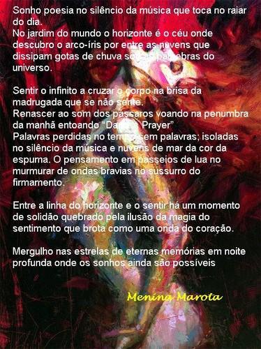 Pintura de Henry Asencio, poema de Otília Martel (Menina Marota)