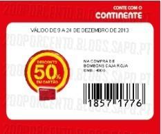 Acumulação 25% + 50% (Cupão) | CONTINENTE | Chocolates Nestlé, apenas dia 9 dezembro