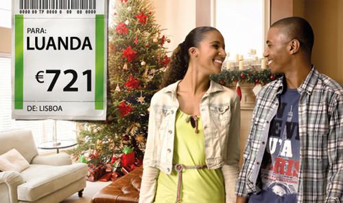 voos baratos para Angola - promoções TAP durante o Natal
