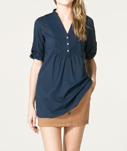 Camisa comprida Zara 2011