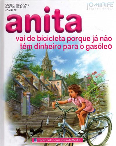 Anita de bicicleta não têm dinheiro pra gasóleo