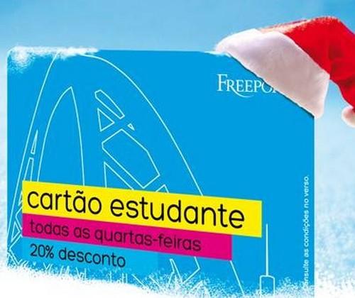 Todas as quartas | FREEPORT | 20% desconto, Cartão Estudante