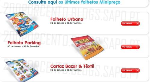 Novos Folhetos | MINIPREÇO | Online, de 30 janeiro a 12 fevereiro