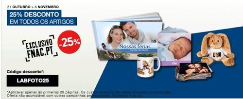 25% de desconto  | FNAC | até 6 novembro, todos os artigos foto