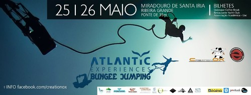 As emoções do Bungee Jumping, na Ribeira Grande...