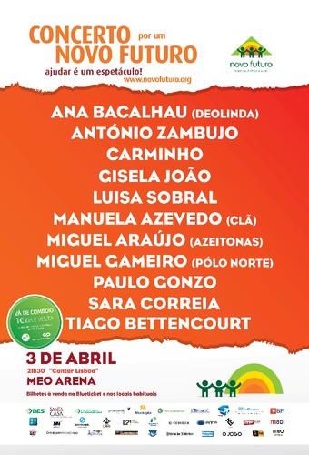 Cantar Lisboa – Concerto por um Novo Futuro no dia 3 de abril