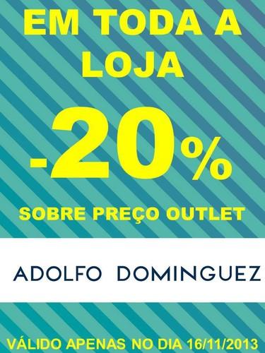 20% de desconto extra | FREE PORT | Adolfo dominguez, dia 16 novembro