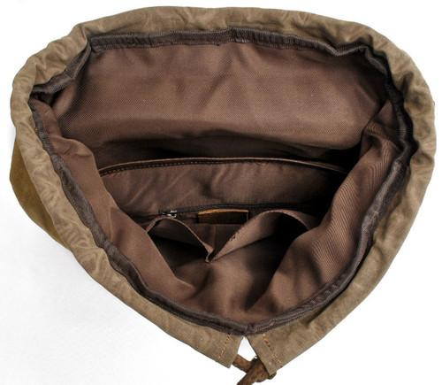 mochila marrón de lona mochilas masculina canvas