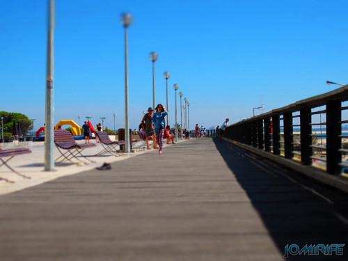 Esplanada Silva Guimarães na Figueira da Foz num bom dia de sol para passear [en] Seafront esplanade Silva Guimaraes in Figueira Da Foz Portugal with a good sunny day for a walk