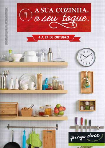 Novo Folheto Pingo Doce, de 4 a 24 Outubro