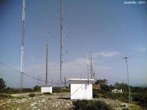Antenas na Serra da Boa Viagem (Figueira da Foz)
