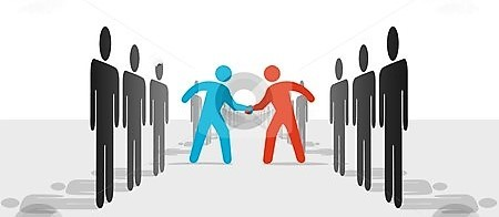 cutcaster-photo-100066970-People-on-Two-Sides-Agre