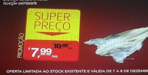 Super Preço | CONTINENTE | Bacalhau especial seleção continente, até 8 dezembro,