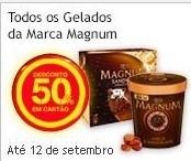 50% em Todos os Gelados Magnum no Continente