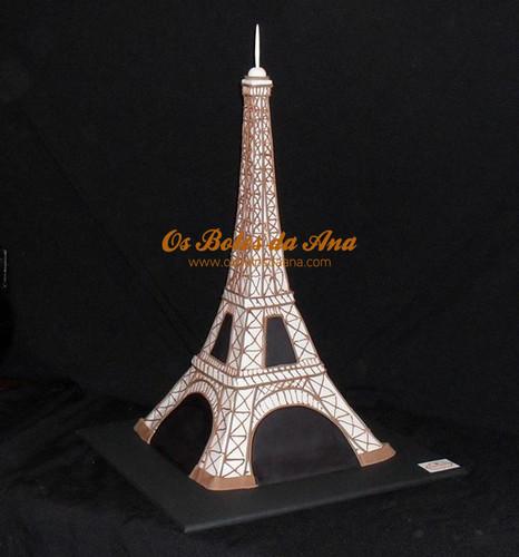 Bolo Decorado 3D Torre Eiffeil