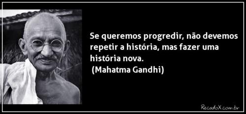 Frases De Mahatma Gandhi No Facebook Se Queremos Progredir Não