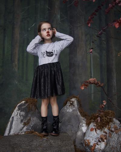 Primark Halloween Kids 2g meow tutu dress black E1