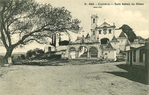 Santo António dos Olivais. Bilhete-postal antigo.
