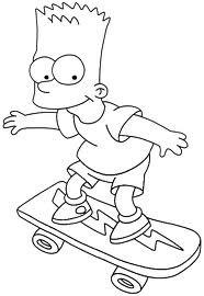 Desenhos Do Bart Simpson Imprimir E Pintar O Mundo Das Criancas