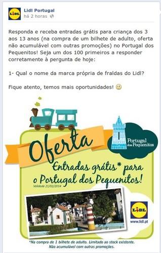 Passatempo | LIDL | Portugal dos Pequeninos