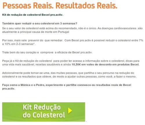 Kits de redução colesterol | BECEL | disponíveis