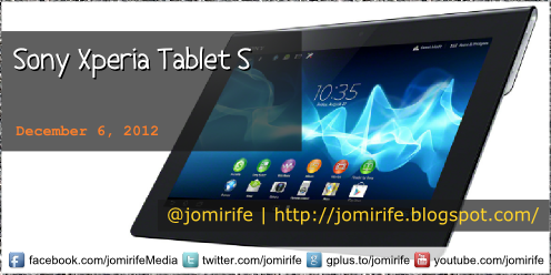 Blog Post: Sony Xperia Tablet S (tech specs)