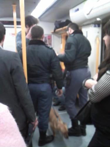 GNR no comboio